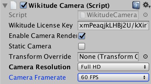Camera Controls Wikitude SDK Unity 8 7 0 Documentation