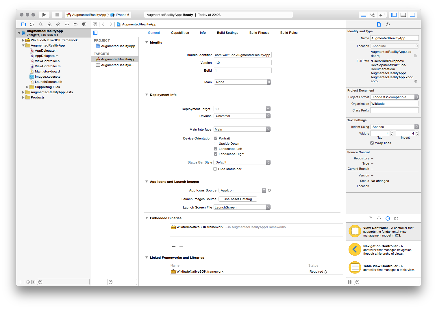 Project Setup Wikitude SDK iOS Native API 8 7 0 Documentation