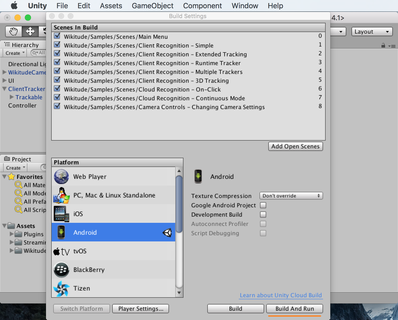 Setup Guide Unity Plugin Wikitude SDK Unity 8 6 0 Documentation