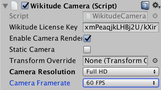 Camera Controls Wikitude SDK Unity 8 5 0 Documentation