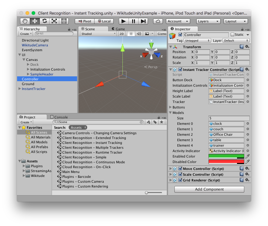 Instant Tracking Wikitude SDK Unity 8 6 0 Documentation