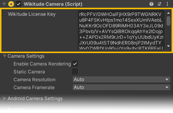 License Key Wikitude SDK Unity 8 6 0 Documentation