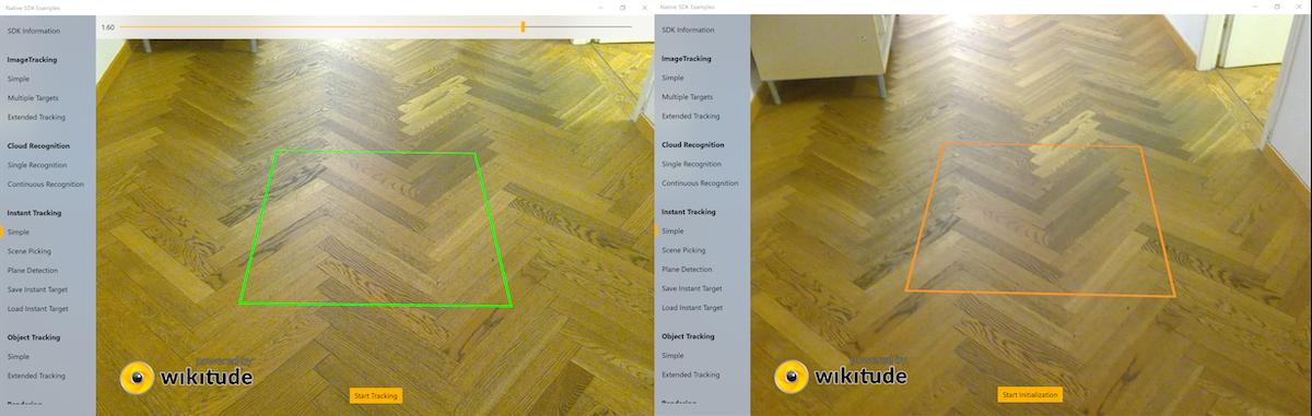 Instant Tracking Wikitude SDK Windows Native API 8 6 0 Documentation