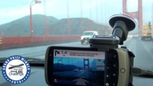 wikitude drive - crossing golden gate bridge