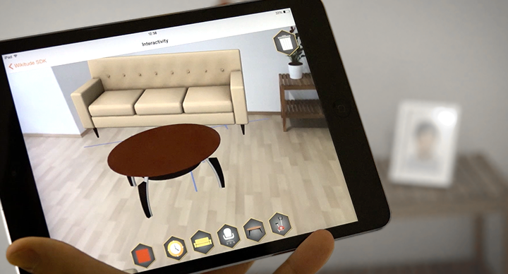 augmented reality furniture in real room with Wikitude SLAM